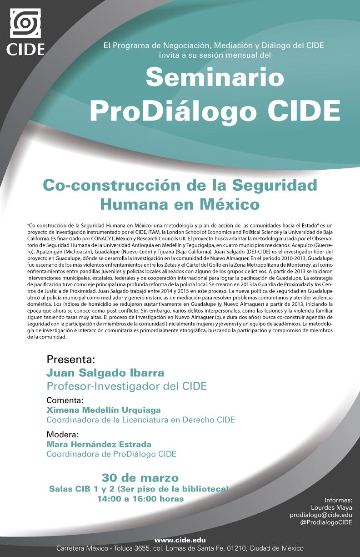 """Seminario """"Co-construcción de la Seguridad Humana en México"""""""