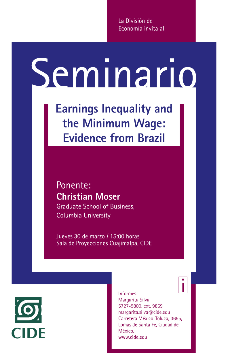Seminario «Earnings Inequality and the Minimum Wage: Evidence from Brazil»