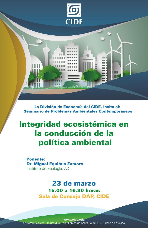 Seminario «Integridad ecosistémica en la conducción de la política ambiental»