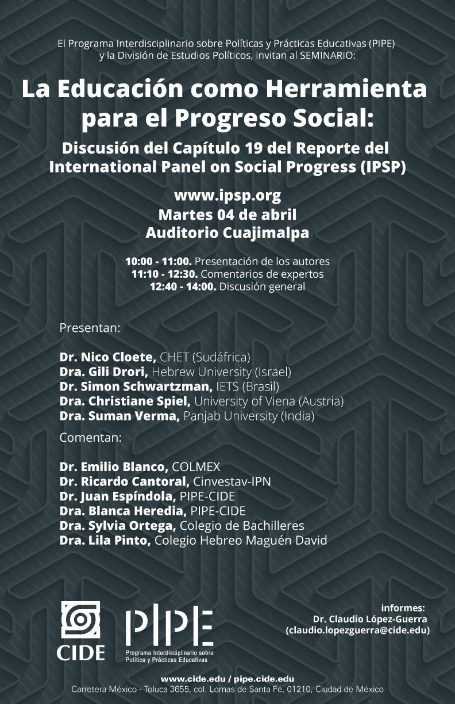 Seminario «La Educación como Herramienta para el Progreso Social»