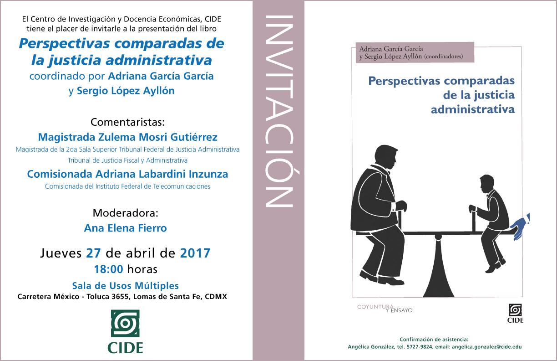 Invitación «Perspectivas comparadas de la justicia administrativa»