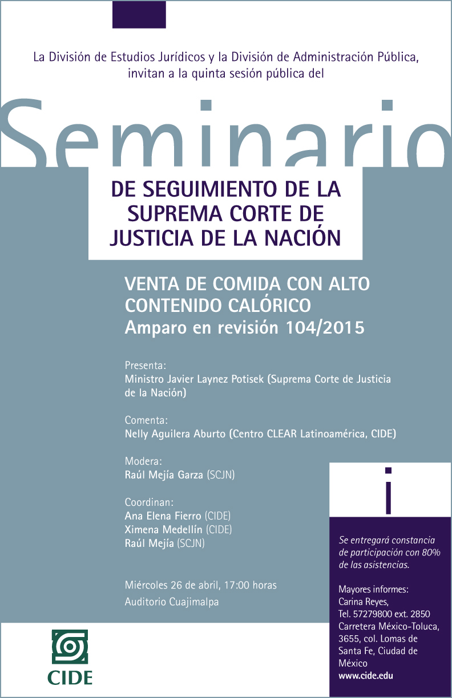 Seminario «DE SEGUIMIENTO DE LA SUPREMA CORTE DE JUSTICIA DE LA NACIÓN»