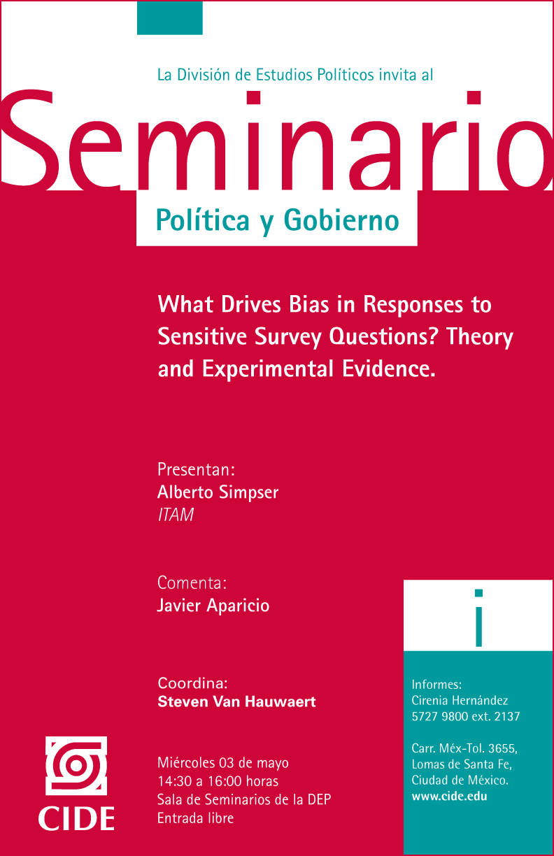 Seminario «What Drives Bias in Responses to Sensitive Survey Questions? Theory and Experimental Evidence»
