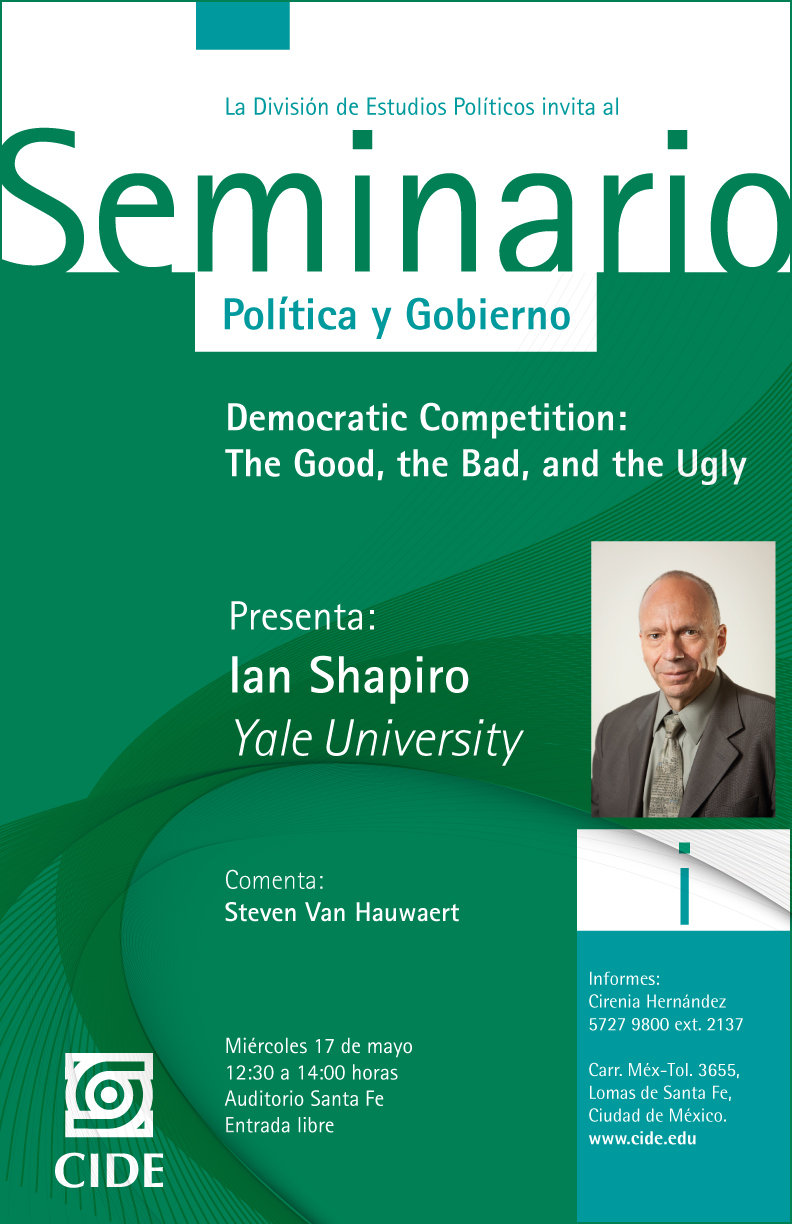 "Seminario ""Democratic Competition: The Good, the Bad, and the Ugly"""