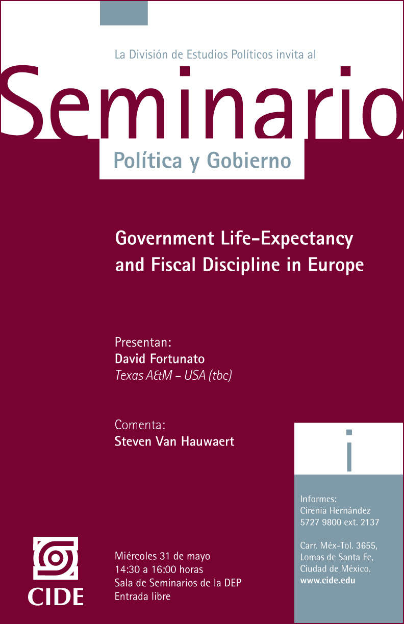 Seminario «Government Life-Expectancy and Fiscal Discipline in Europe»