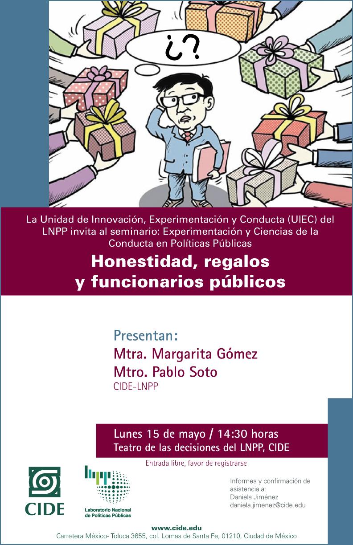 """Seminario """"Honestidad, regalos y funcionarios públicos"""""""
