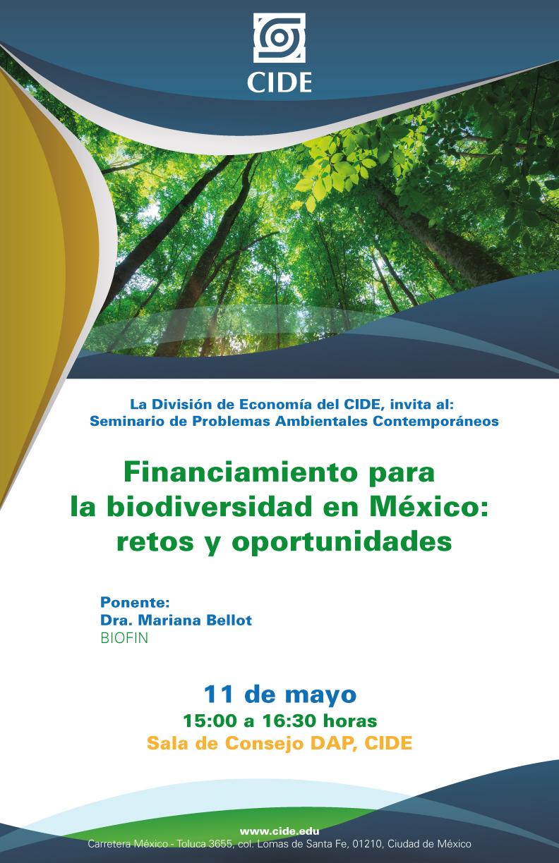 Seminario «Financiamiento para la biodiversidad en México: retos y oportunidades»