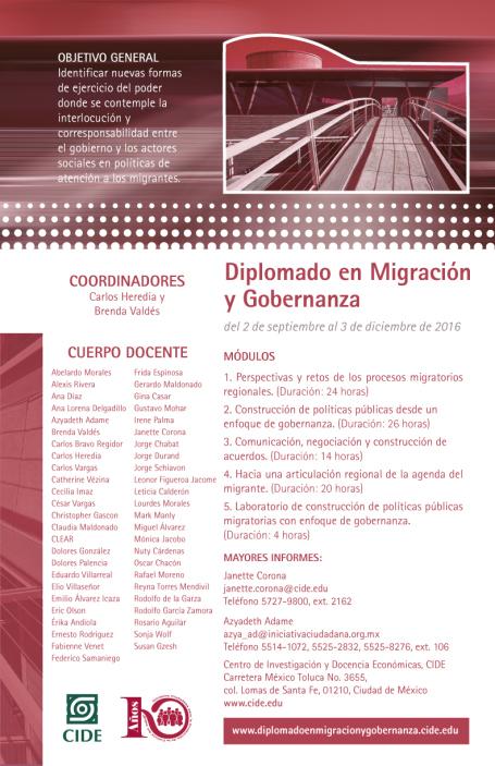 Diplomado en Migración y Gobernanza