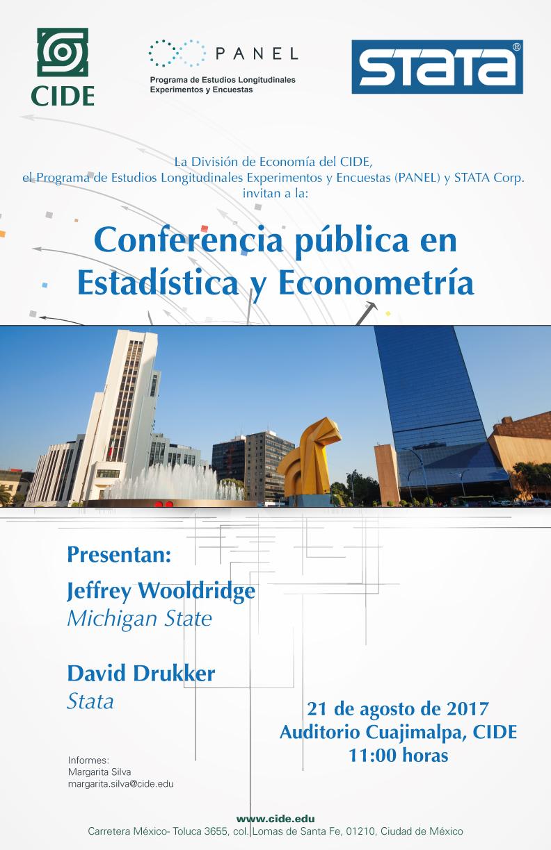 Conferencia pública en Estadística y Econometría