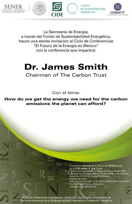"""Conferencia """"El Futuro de la Energía en México"""""""