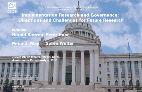 """Conferencia Magistral: """"Implementation Research and Governance: Directions and Challenges for Future Research"""""""