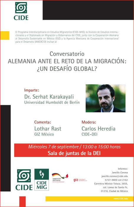 """Conversatorio """"Alemania ante el reto de la migración: ¿un desafío globlal?"""""""