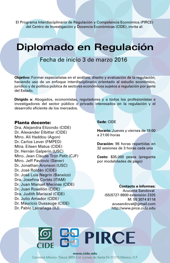 Diplomado en Regulación