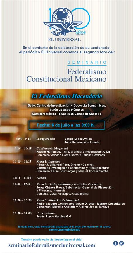 "Seminario ""Federalismo Constitucional Mexicano"""