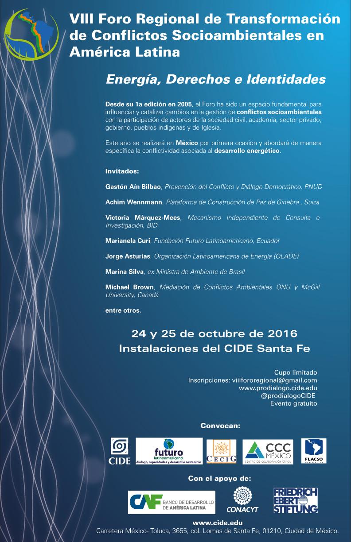 VIII Foro Regional sobre Transformación de Conflictos Socioambientales