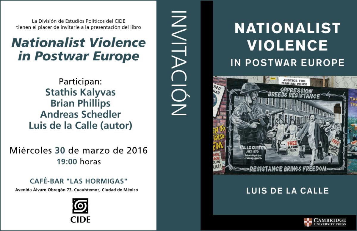 """Presentación del libro """"Nationalist Violence in Postwar Europe"""""""