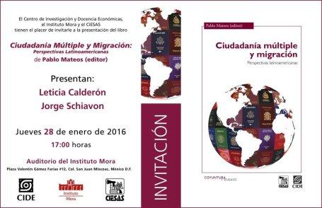 """Presentación del libro """"Ciudadanía Múltiple y Migración. Perspectivas Latinoamericanas"""""""