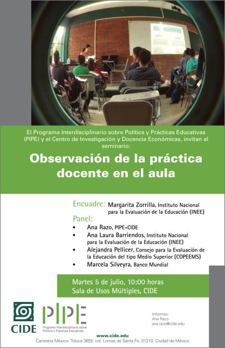 Seminario «Observación de la práctica docente en el aula»