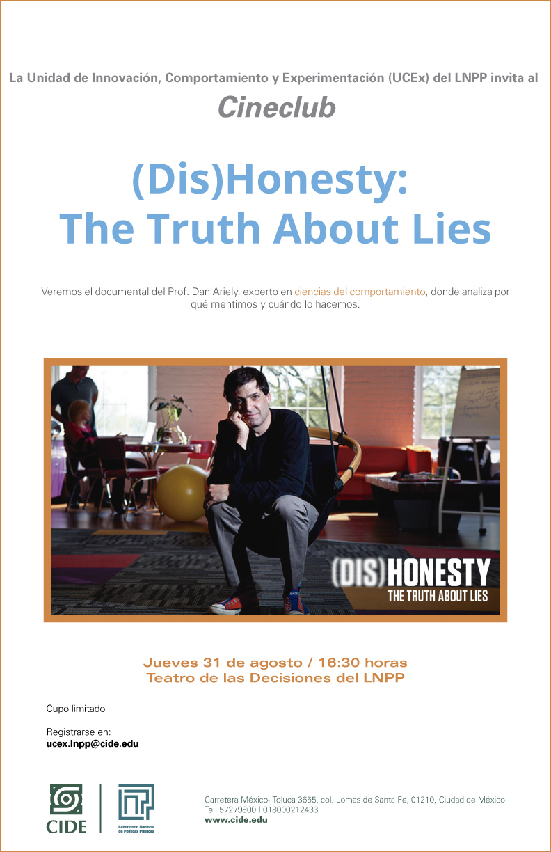 Cineclub «(Dis)Honesty: The Thuth About Lies»