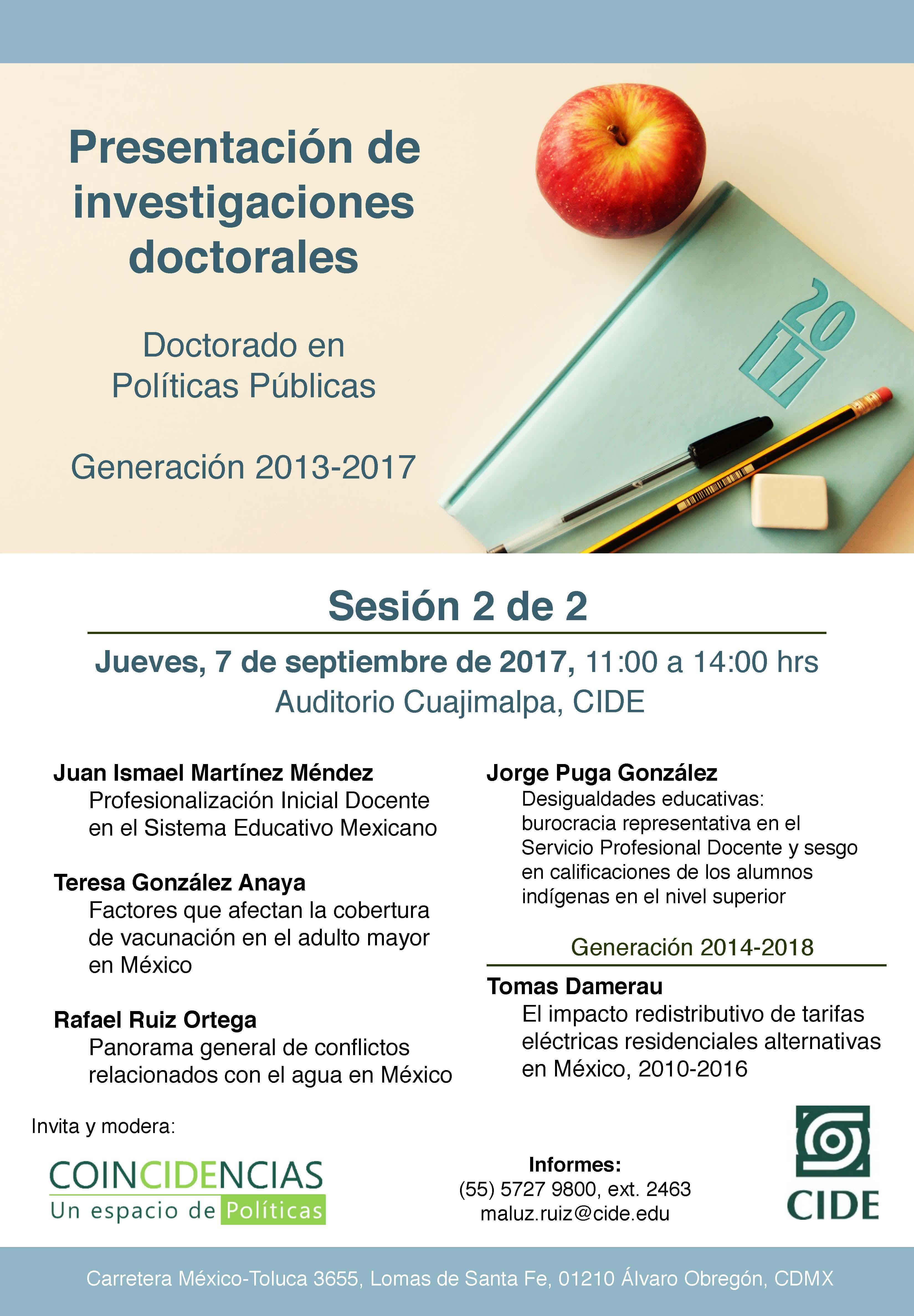 Presentación de investigaciones doctorales
