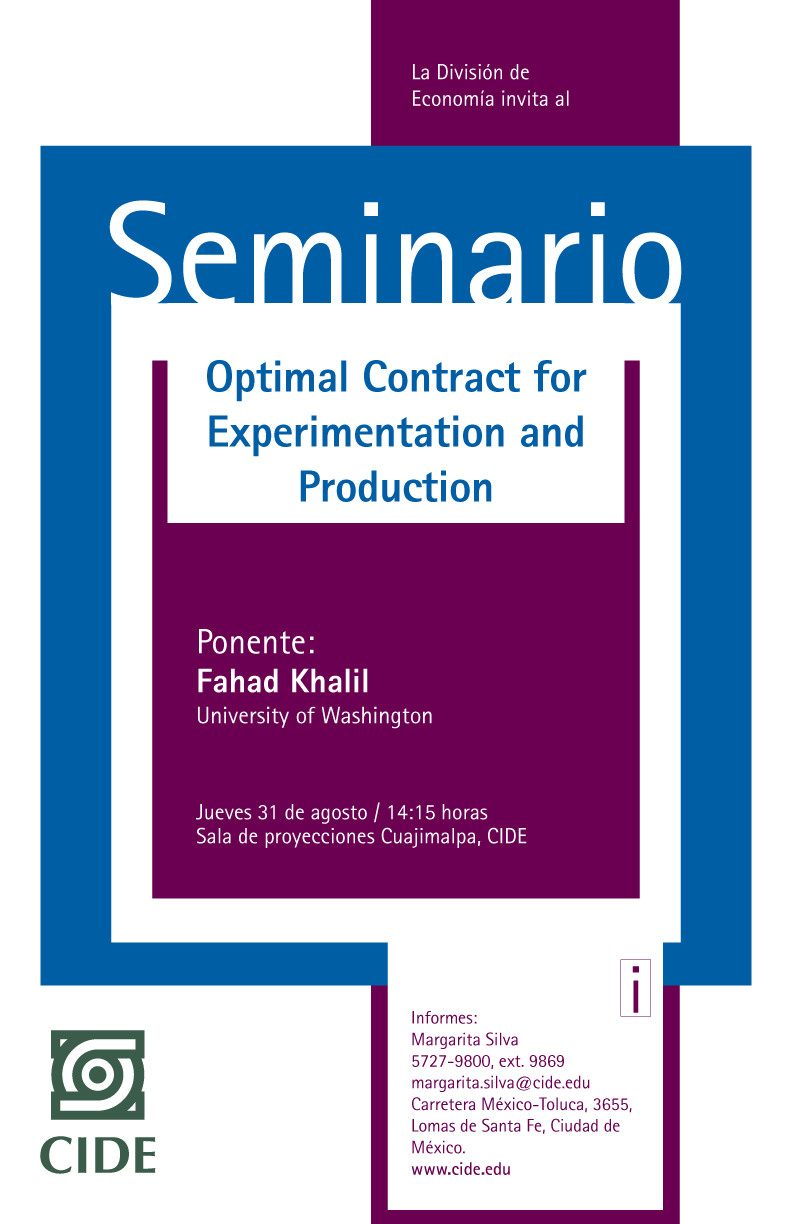 Seminario «Optimal Contract for Experimentation and Production»