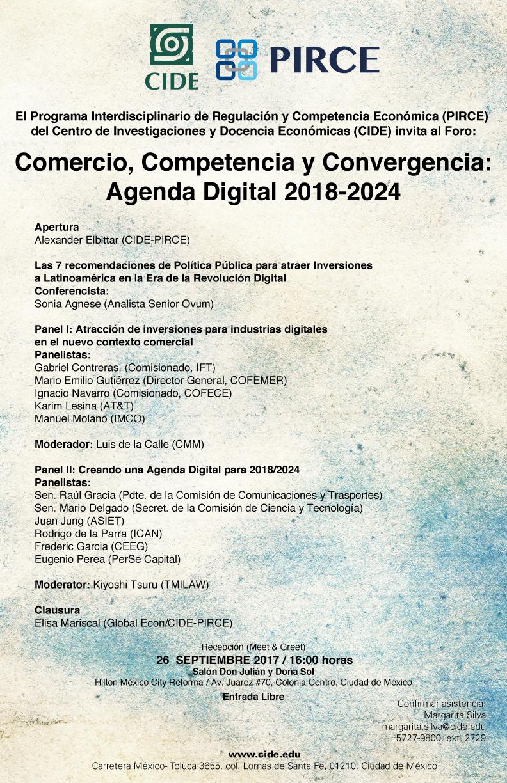Foro «Comercio, Competencia y Convergencia: Agenda Digital 2018-2024»
