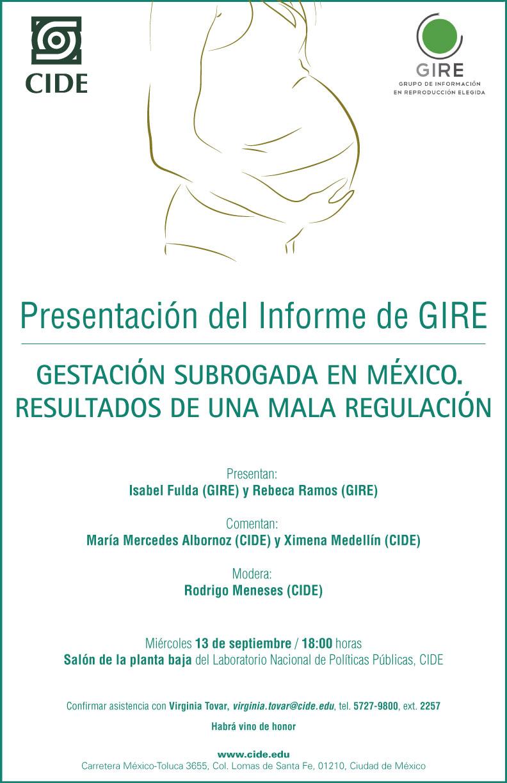 Presentación del Informe de GIRE «Gestación Subrogada en México. Resultados de una mala regulación»