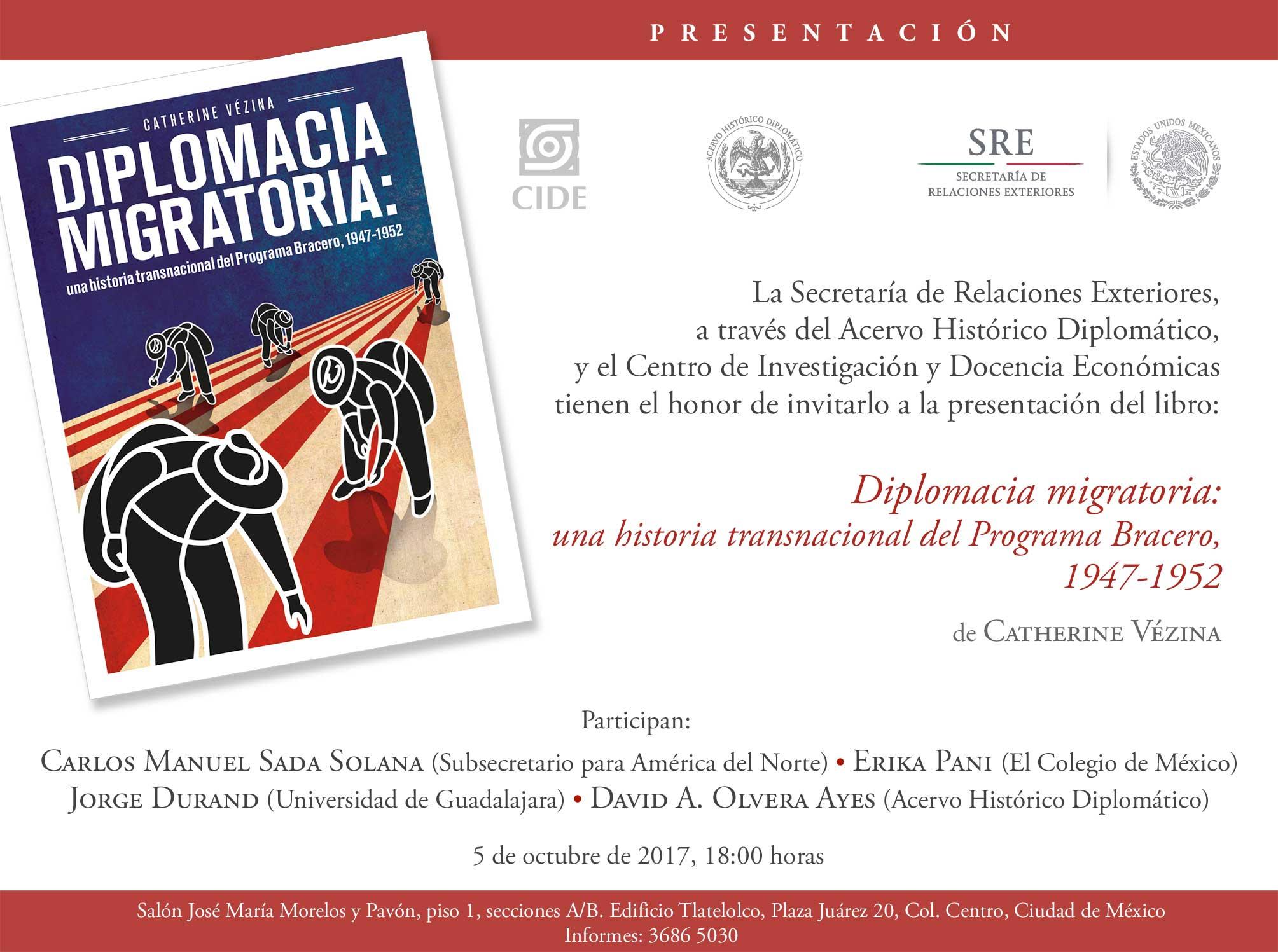 """Presentación del libro """"Diplomacia migratoria"""""""