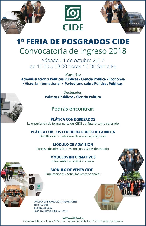 1a Feria de Posgrados CIDE