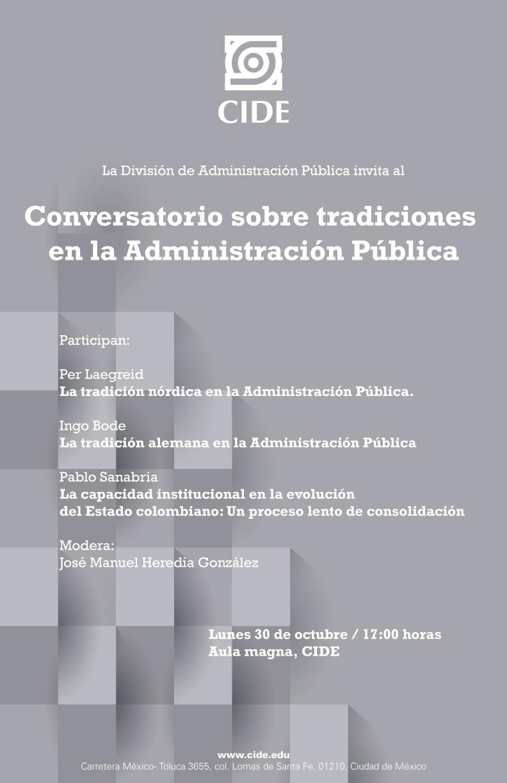 Conversatorio sobre tradiciones en la Administración Pública