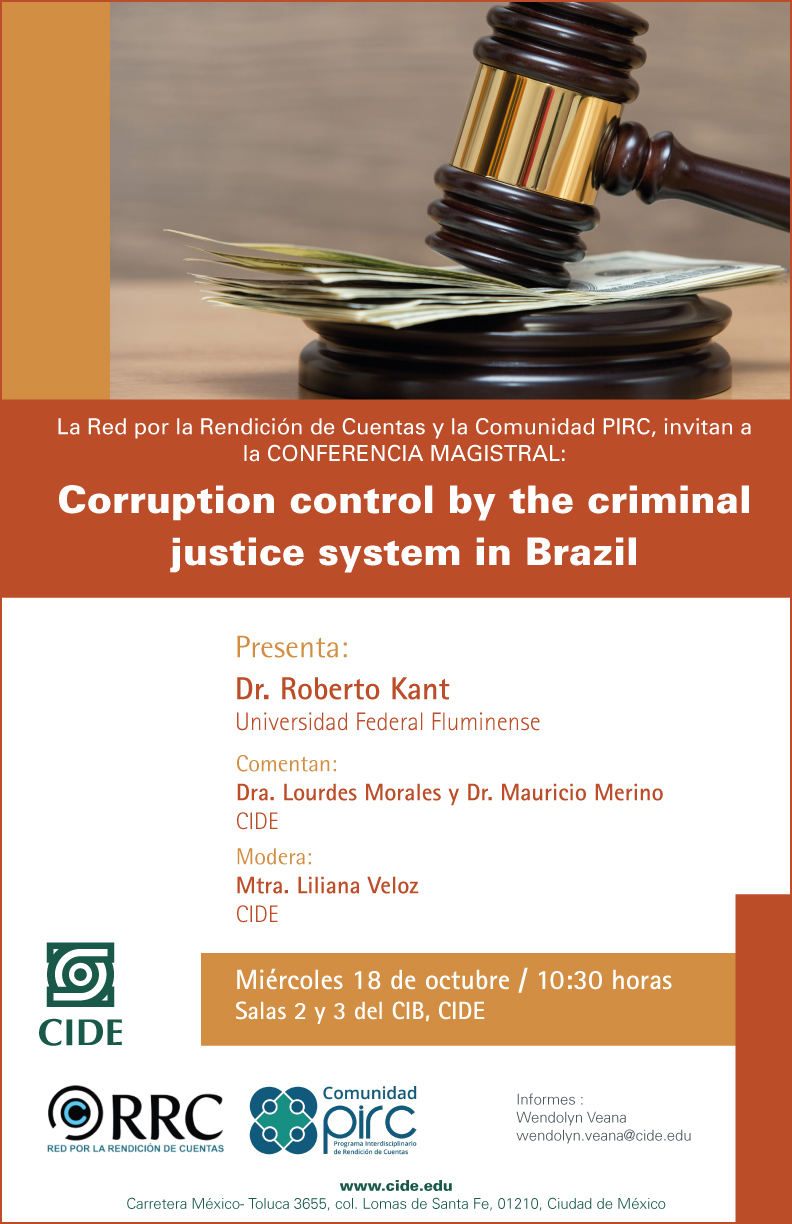 """Conferencia """"Corruption control by the criminal justice system in Brazil"""""""