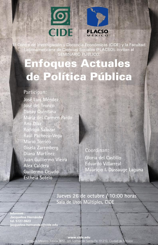 Seminario «Enfoques Actuales de Política Pública»