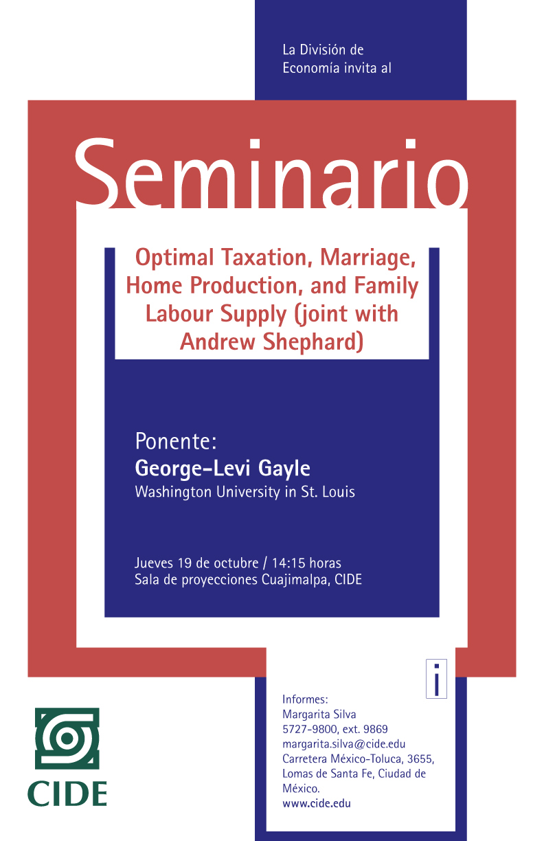 Seminario «Optimal Taxation, Marriage, Home Production, and Family Labour Supply»