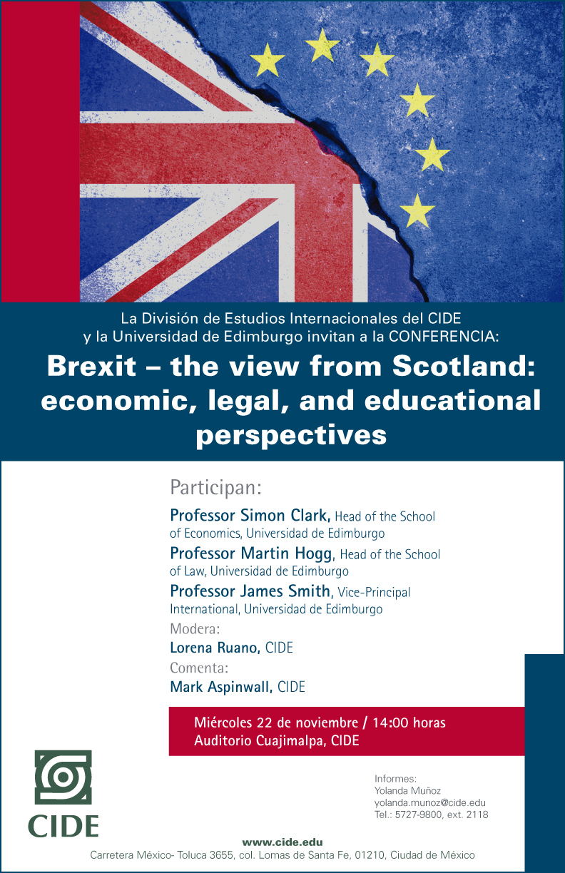 """Conferencia """"Brexit – the view from Scotland: economic, legal, and education perspectives"""""""