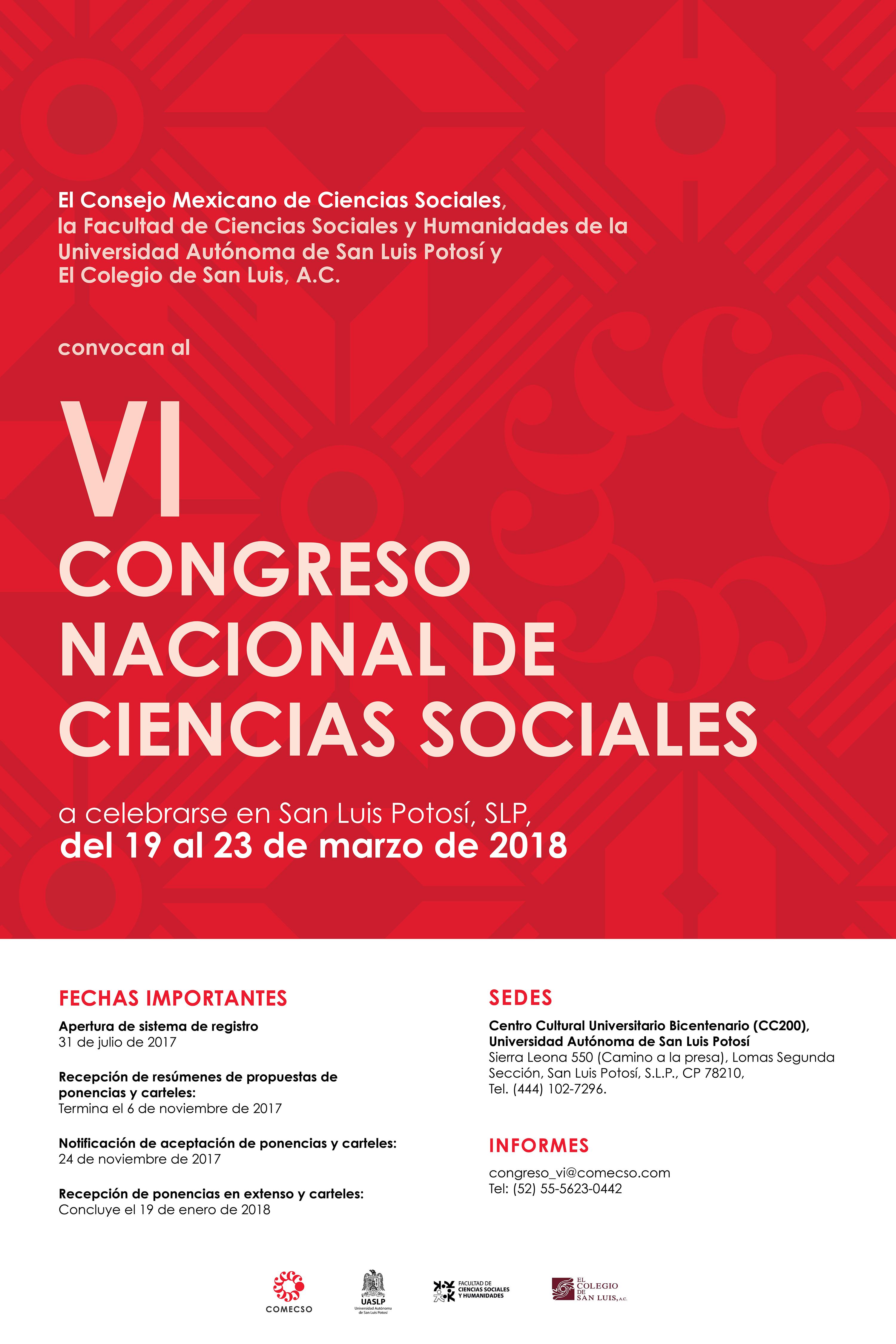 VI CONGRESO NACIONAL DE CIENCIAS SOCIALES