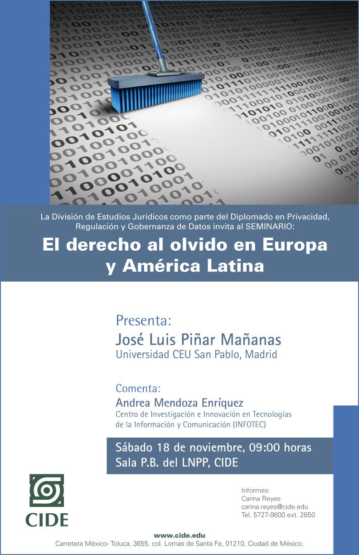 Seminario «El derecho al olvido en Europa y América Latina»