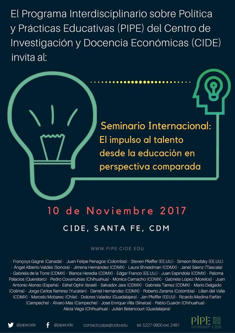 Seminario Internacional «El impulso al talento desde la educación en perspectiva comparada»