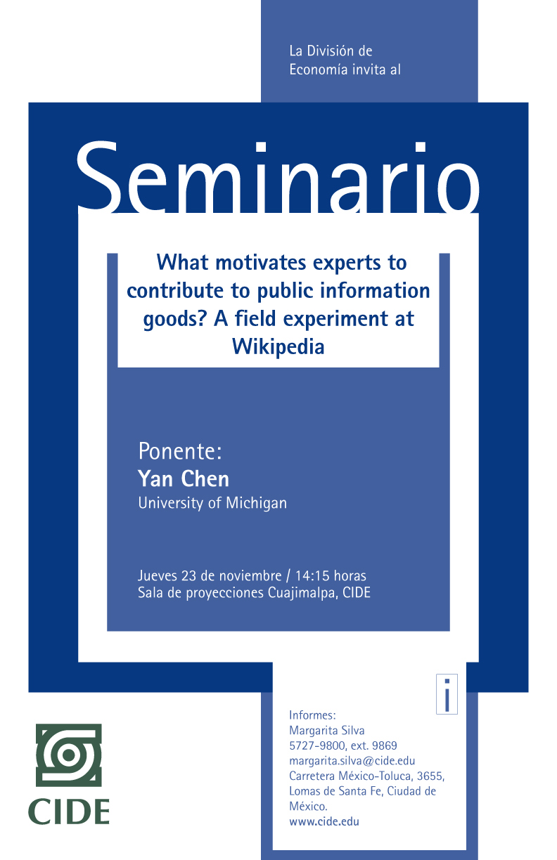 Seminario «What motivates experts to contribute to public information goods?»