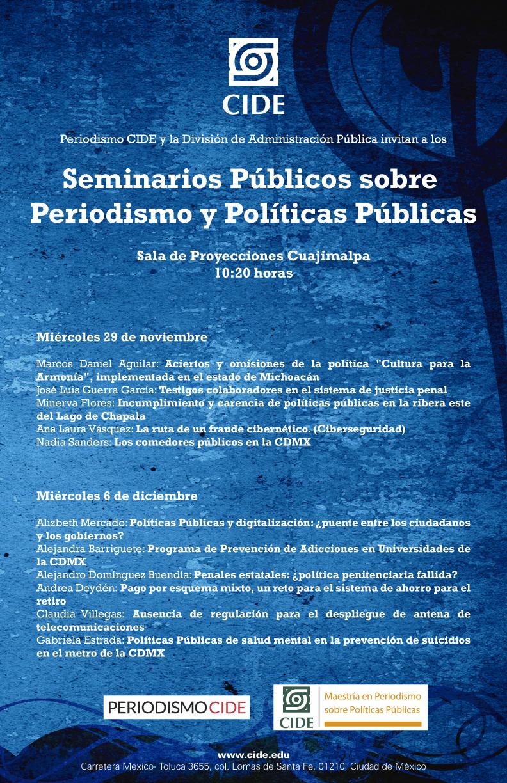 Seminarios Públicos sobre Periodismo y Políticas Públicas