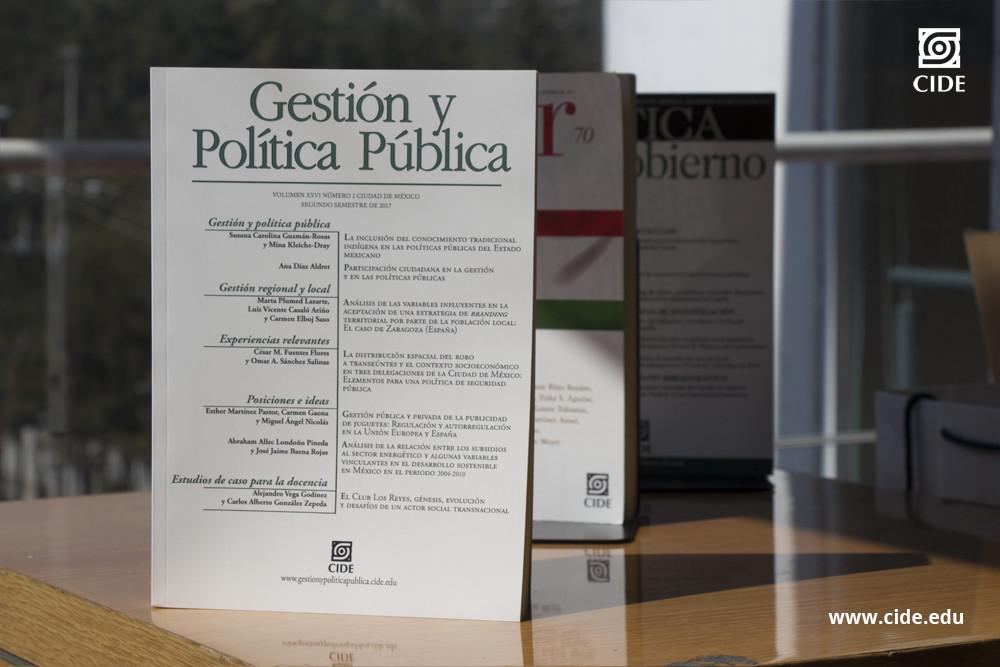 #RevistasCIDE   Gestión y Política Pública, edición Segundo Semestre 2017