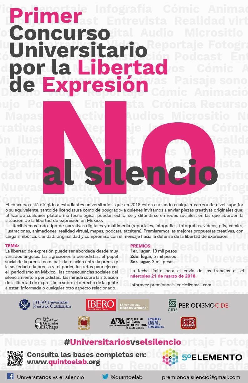 """Concurso """"Primer Concurso Universitario por la Libertad de Expresión"""""""