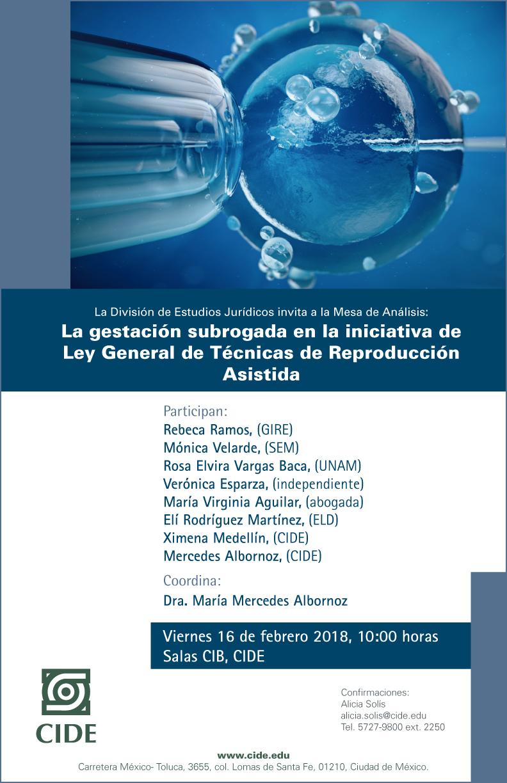 Mesa de Análisis «La gestación subrogada en la iniciativa de Ley General de Técnicas de Reproducción Asistida»