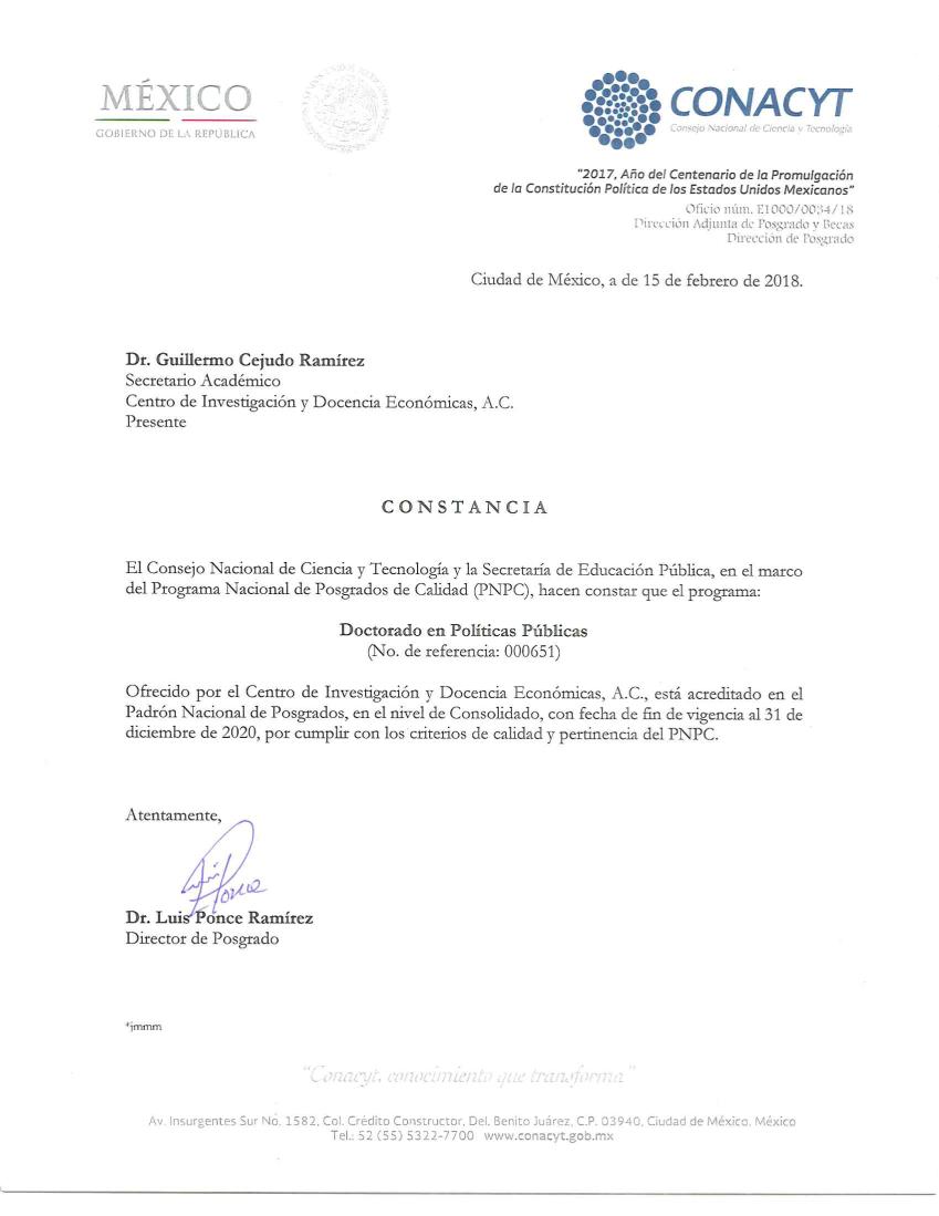 División de Administración Pública