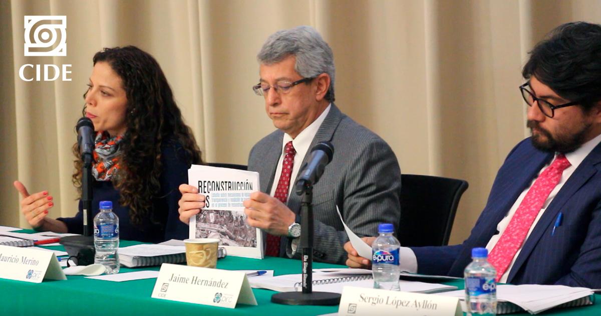 El CIDE presenta estudio sobre #Reconstrucción19S; destaca falta de transparencia en recursos