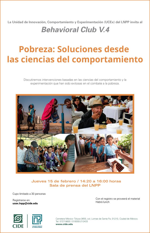 Behavioral Club V.4 «Pobreza: Soluciones desde las ciencias del comportamiento»