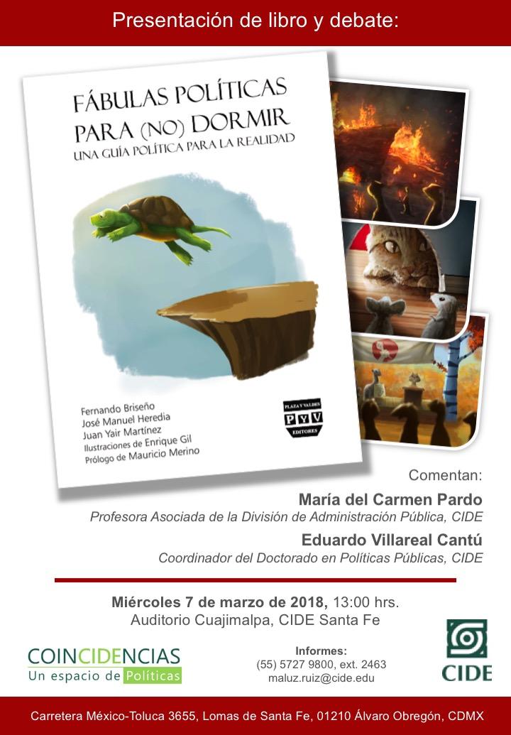 Presentación de libro y debate «FÁBULAS POLÍTICAS PARA (NO) DORMIR»