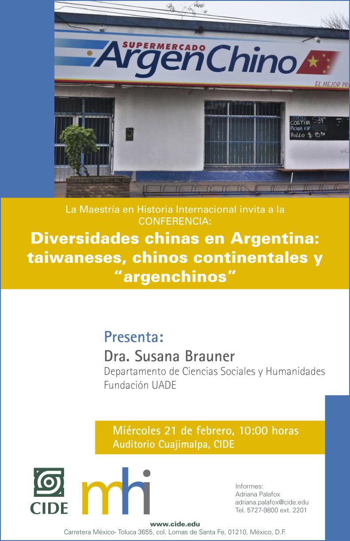 "Conferencia ""Diversidades chinas en Argentina: taiwaneses, chinos continentales y ""argenchinos"""""