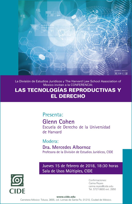 """Conferencia """"LAS TECNOLOGÍAS REPRODUCTIVAS Y EL DERECHO"""""""
