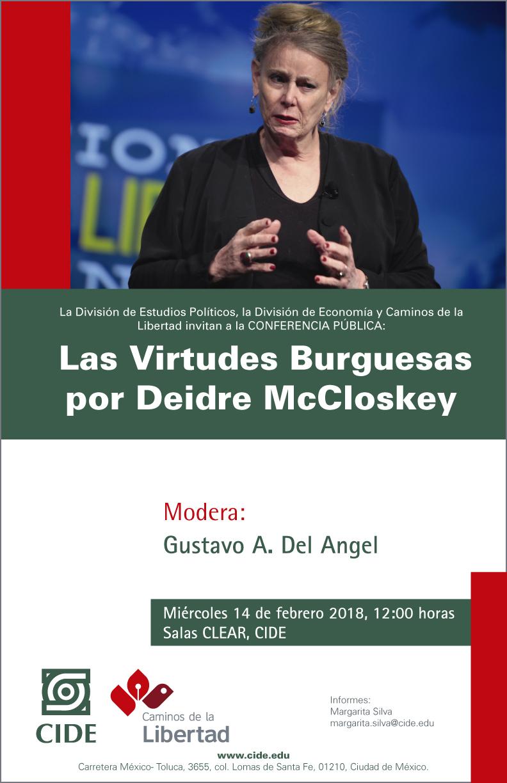 Conferencia Pública «Las Virtudes Burguesas por Deidre McCloskey»