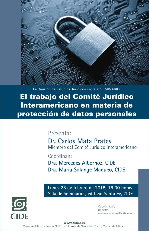 Seminario «El trabajo del Comité Jurídico Internacional en materia de protección de datos personales»